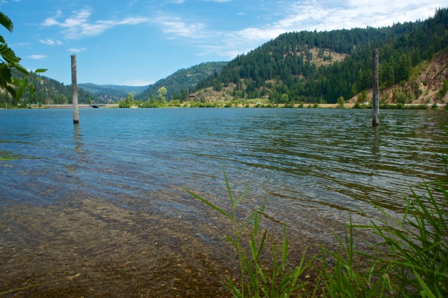 View of Coeur d'Alene Lake from Beauty Bay