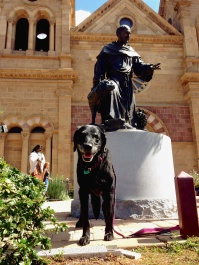 With Saint Francis of Assisi, Santa Fe, New Mexico